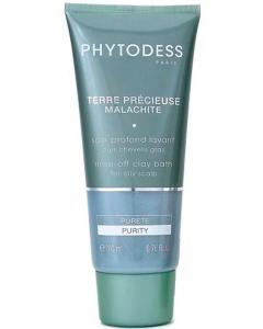 Шампунь Драгоценная глина Малахит для лечения жирной кожи головы Фитодесс Terre Precieuse Malachite Phytodess