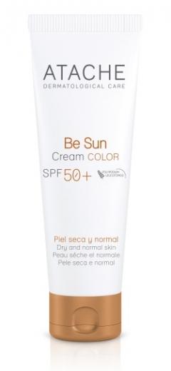 Омолаживающий солнцезащитный крем нормальной и сухой кожи SPF 50+ Атаче BE SUN Gel Cream Color SPF 50+ Atache