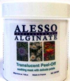 Успокаивающая альгинатная полупрозрачная маска с нежными лепестками Алессо Calming algae mask translucent with delicate petals Alesso