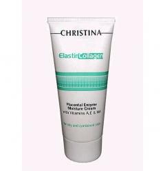 Увлажняющий крем с растительными энзимами, коллагеном и эластином для жирной и комбинированной кожи Кристина Elastin Collagen Placental Enzyme Moisture Cream Christina