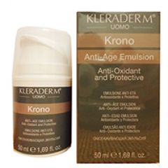 Мужской anti-age крем - эмульсия вокруг глаз и для лица Клерадерм Anti-age emulsion Kronо Kleraderm