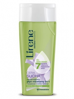 Мицеллярная жидкость для сухой кожи лица Лирен Ceramidowy pyn micelarny 3w1 Lirene