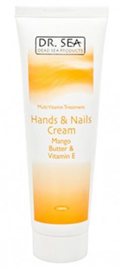 Мультивитаминный оздоравливающий крем для рук и ногтей с маслом манго и витамином Е Доктор Си Hands and nails cream Dr. Sea