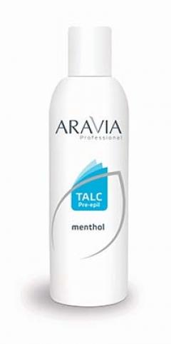 Тальк с ментолом Аравия Профешнл Talc Menthol Aravia Professional
