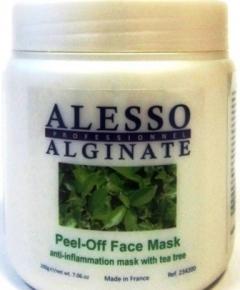 Противовоспалительная альгинатная маска с маслом чайного дерева Алессо Anti-inflammatory algae mask with tea tree oil Alesso