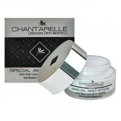 Завершающий антибактериальный крем с серебром, SPF 50 UVA / UVB Шантарель SPECIAL AESTHETICS Cover Silver Cream Anti-Bacterial Photoprotect Chantarelle