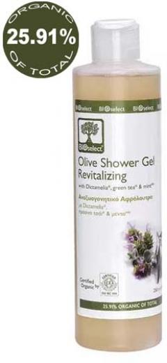 Освежающий гель для душа БиоСелект Olive Shower Gel Revitalizing BIOSelect