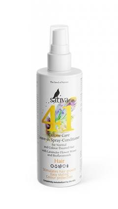 Спрей-кондиционер для волос защита цвета №41 с гидролатом лаванды и биофлаваноидами Сатива Sativa