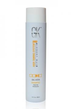 Серебряный шампунь для блондированных волос Глобал кератин Silver Shampoo GK Hair Professional (Global Keratin)