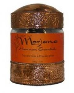 """Мыло """"Черное с эвкалиптом"""" Моржана Eucalyptus Black Soap Morjana"""
