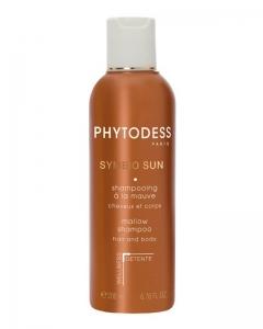 Успокаивающий шампунь с мальвой после загара для волос и тела Фитодесс Symbio Sun Mallow Shampoo Hair and Body Phytodess