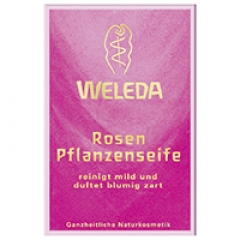 Розовое питательное мыло Веледа Rosen Pflanzenseife Seife Weleda