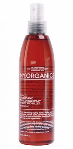Несмываемый спрей для волос для придания объема Май.Органикс Thickening Spray Apricot and Millet My.Organics