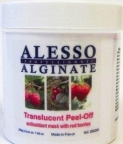 Антиоксидантная альгинатная полупрозрачная маска с красными ягодами Алессо Antioxidant translucent alginate mask with red berries Alesso