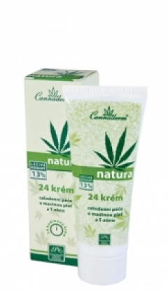 Крем для жирной кожи лица 24 Natura Каннадерм Cream for oily skin of face 24 Natura Cannaderm