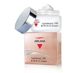 Крем с лактобионовой кислотой и витаминами А + С Аркана Lactobionic 10% & Vit A+C Cream Arkana