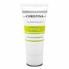 Яблочная маска красоты для жирной и комбинированной кожи Кристина Sea Herbal Beauty Mask Green Apple Christina