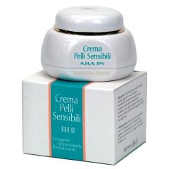Крем для лица АНА  8% для чувствительной, сухой кожи Свит Скин Систем CREMA PELLI SENSIBILI AHA 8% Sweet Skin System