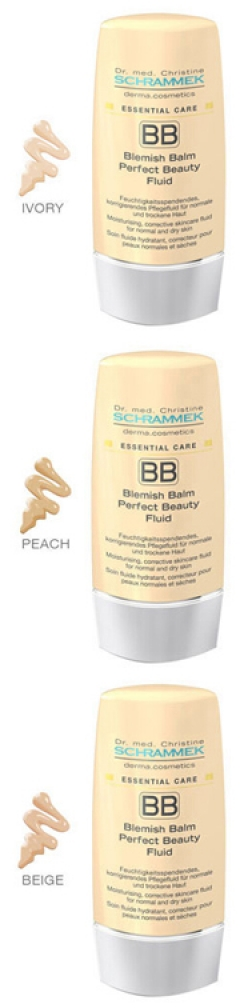 ВВ-флюид (тона: слоновая кость, персик, беж) BLEMISH BALM PERFECT BEAUTY FLUID (IVORY, PEACH, BEIGE) DERMA COSMETICS