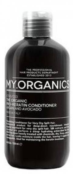 Питательный кондиционер с экстрактами шелка Май.Органикс Pro-Keratin Condition Argan And Avocado My.Organics