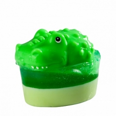 Глицериновое мыло Крокодил. Большая игрушка Органик Glycerin soap Crocodile Most toy Organique