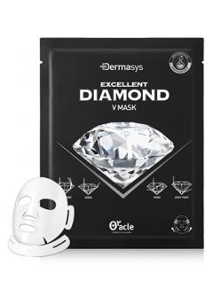 Лифтинг-маска для коррекции овала лица с алмазной пудрой Доктор Оракл DERMASYS Diamond V Mask Dr.Oracle