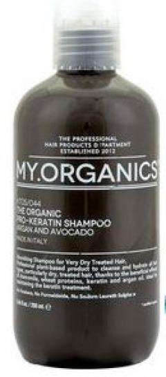 Питательный шампунь для сухих и окрашенных волос Май.Органикс Pro-Keratin Shampoo Argan And Avocado My.Organics