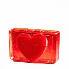 Глицериновое мыло куб Сердце для него Органик Glycerin soap cube Heart for him Organique