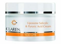Крем против акне с пировиноградной и салициловой кислотамиа Кларена Acid line Liposome Salicylic & Pyruvic Acid Cream Clarena