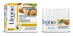 Разглаживающий питательный крем Миндальное масло Лирен Almond Oil Smoothing and Nourishing Cream Lirene