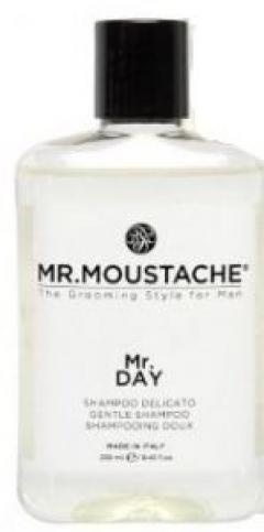 Мужской увлажняющий, восстанавливающий шампунь для волос и кожи головы Май.Органикс  Mr. Mustache Mr.Day Shampoo My.Organics