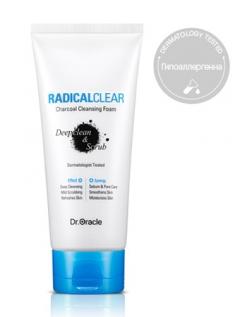 "Пенка для умывания с древесным углем ""Глубокое очищение и Скраб"" Доктор Оракл RADICALCLEAR Charcoal Cleansing Foam Deepclean&Scrub Dr.Oracle"