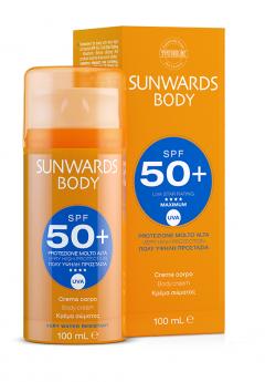 Крем для тела с очень высокой защитой от солнца SPF 50+ и UVA Тебискин SUNWARDS Body Cream SPF 50+ Tebiskin
