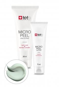 Мягкий эксфолиант с молочной/гликолевой кислотами и бамбуковой пудрой Тете Cosmeceutical Micro Peel Tete