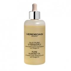 Чистое миндальное масло против растяжек Вердеоаси Pure sweet almond oil anti stretch marks & elasticing action omega 3+6 Verdeoasi