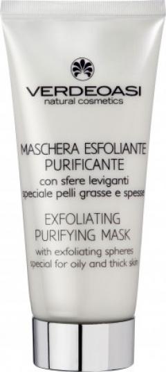 Очищающая маска-скраб для жирной и проблемной кожи Вердеоаси Exfoliating Purifying Mask with exfoliating spheres Verdeoasi