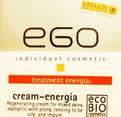 Тонизирующий крем-эмульсия Энергия для комбинированной кожи с тенденцией к загрязнению пор Виталис, ЭГО Cream energia Vitalis Dr.Joseph (EGO)