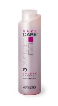 Шампунь для волос с теплым пигментом Golden shampoo Save Professional By Fama