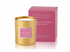 Ароматическая свеча Айва и виноград Аттиранс Aromatic Quince-Grape Glass Candle Attirance