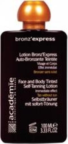 Лосьон-автозагар для лица и тела Академи Lotion Bronz'Express Academie