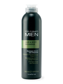 Тонизирующий шампунь-гель для душа Инебрия Ice Cream Men Hair and Body Recharge Inebrya