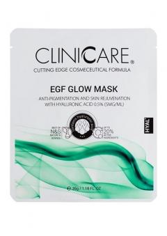 EGF Осветляющая маска с 0,5% гиалуроновой кислотой Клиникеэ EGF GLOW anti-pigmentation mask with 0.5% HA Clinicare