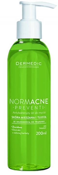 Гель антибактериальный для умывания лица Дермедик Normacne Antibacterial Cleansing Facial Gel Dermedic
