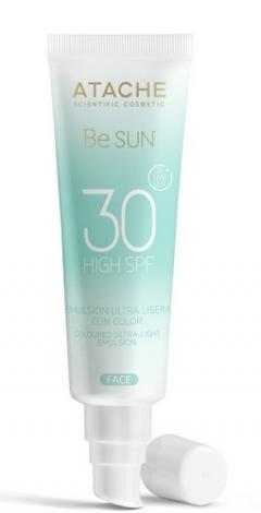 Сверхлегкое солнцезащитное молочко для лица с тональным эффектом Атаче BE SUN SPF 30 Atache