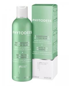 Шампунь с белым чаем для блеска и защиты окрашенных и мелированных волос Фитодесс White Tea Shampoo Phytodess