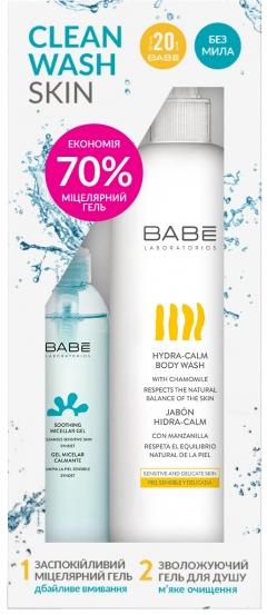 Набор для деликатного очищения лица и тела Бэйби Лабораториз Clean Wash Skin Babe Laboratorios