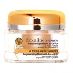 Омолаживающая маска для лица с частицами золота Рексалайн X-treme Gold Radiance 24 K Rexaline