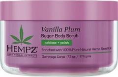 Сахарный скраб для тела «Ваниль-Слива» Хемпз Vanilla plum herbal sugar body scrub Hempz