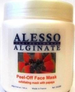 Отшелушивающая и очищающая альгинатная маска с папайей Алессо Exfoliating and cleansing algae mask with papaya Alesso
