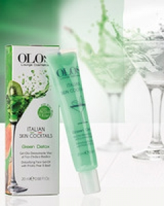 Детоксицирующий коктейль для лица Олос Italian Skin Cocktails Green Detox Face Gel-Oil Olos